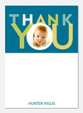 Big Blue -  Photo Thank You Cards