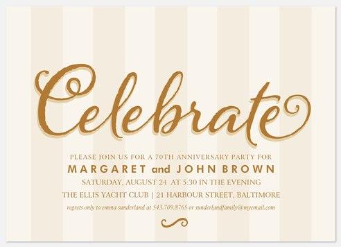 Classy Anniversary Anniversary Invitations