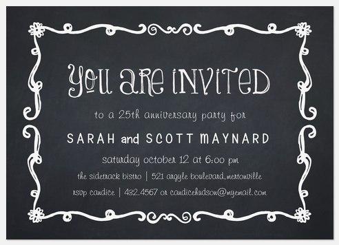 Anniversary Board Anniversary Invitations