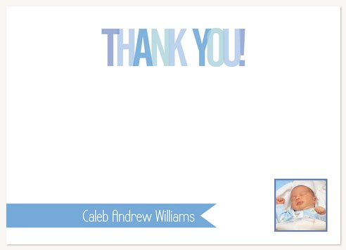 Baby Boy Thank You Cards Baby Blue