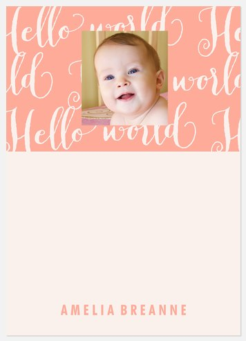World Class Pink Thank You Cards
