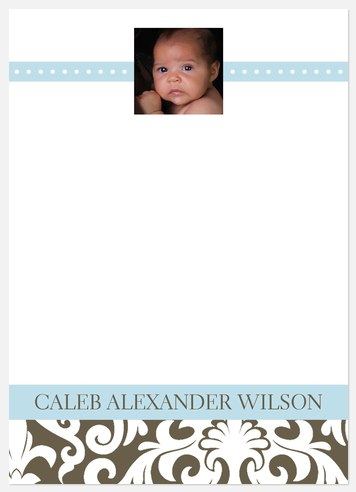 Beaux Art Baby Thank You Cards