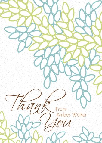 Thank You Cards , Beautiful Branches Design