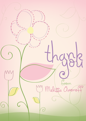 Thank You Cards for Women, Petal Pink Design