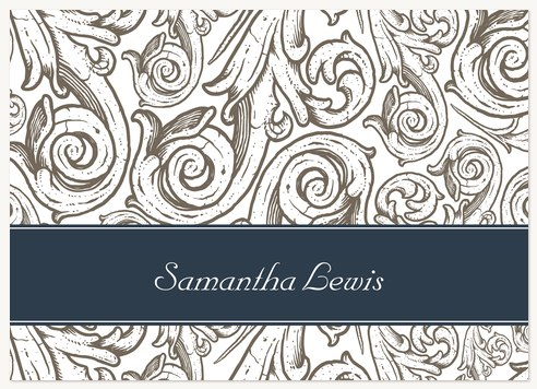 Thank You Cards for Women, Ornate Scroll Design