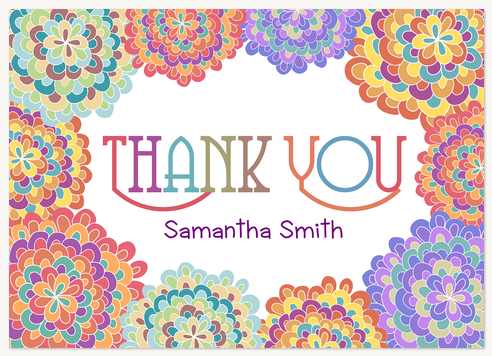 Thank You Cards , Bloom Burst Design