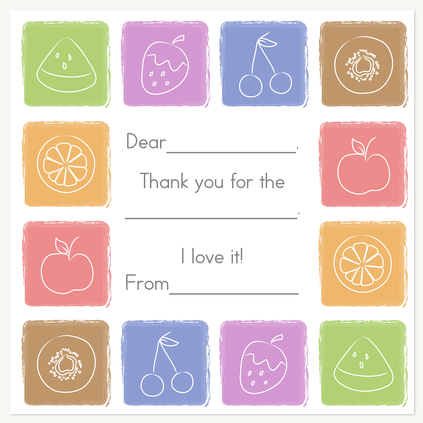 Thank You Cards , Tasty Treats Design