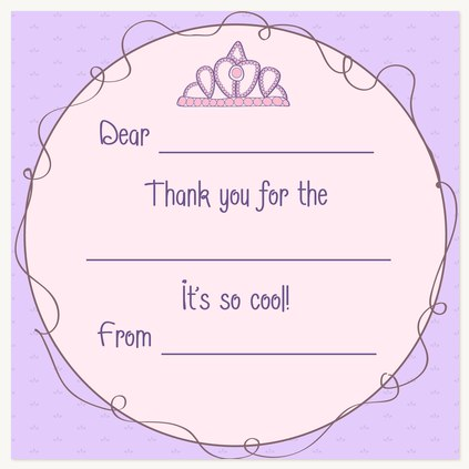 Kids Thank You Cards, Lavender Little Lady Design