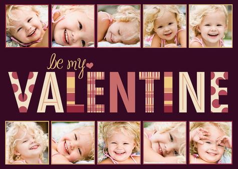 Valentines Cards, Pink Love Collage Design