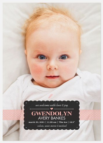 Chic & Sweet Hello Baby Birth Announcements