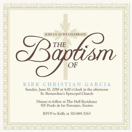 Baptisms & Christening Invitations, Crystal Classic Design