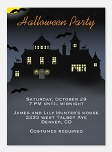 Halloween House - Halloween Party Invitations