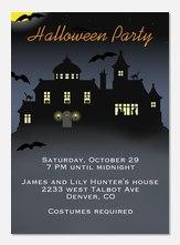 Halloween Party Invitations - Halloween House
