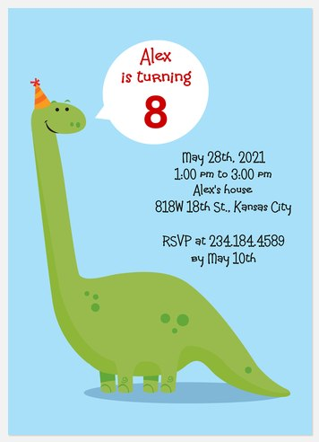 Dino Days Kids' Birthday Invitations