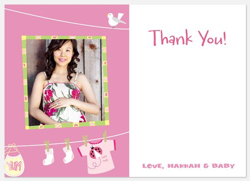 Pink Yummy Thank You Cards