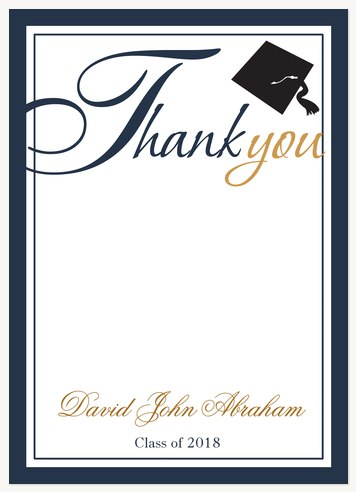 Thank You Cards , Traditional Blue Invitation Design