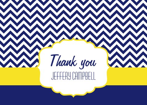 Graduation Thank You Cards, Class Emblem 2 Design