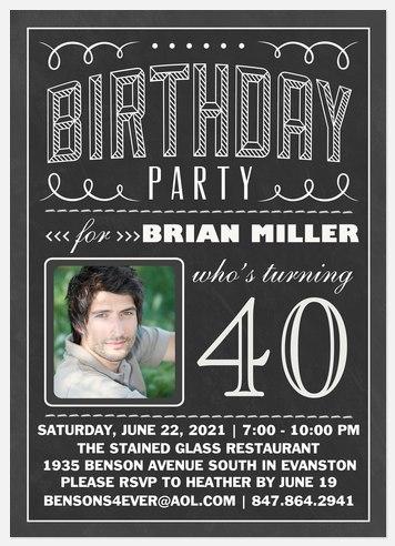 Birthday Letters Adult Birthday Invitations