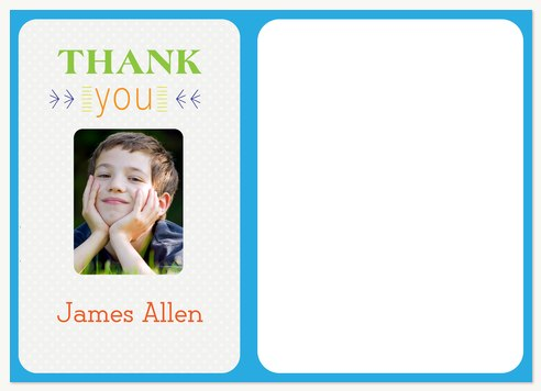 Thank You Cards , Special Day Blue Thank You Design