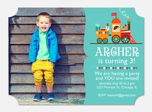 All Aboard -  Birthday Invites