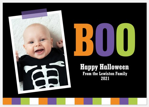 Color Me Boo Halloween Photo Cards
