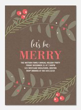 Party Berries -  Christmas Party Invitations