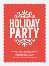 Crimson Scallops - Holiday Party Invitations