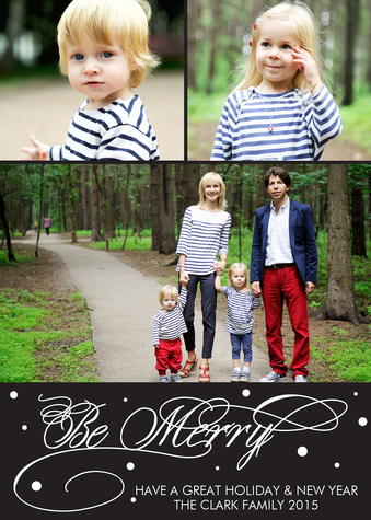 Personalized Holiday Cards, Merry 'n Sweet Design