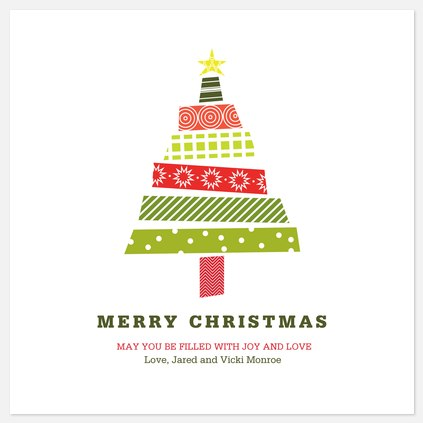 Gift Tree Holiday Photo Cards