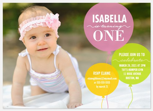 Big Balloons Kids' Birthday Invitations