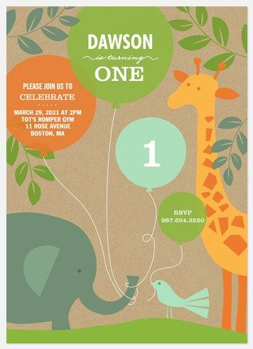 Jungle Fun Kids' Birthday Invitations
