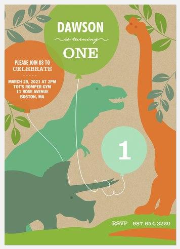 Dino Fun Kids' Birthday Invitations
