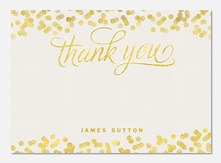 Gold Drops -  Birthday Thank You Photo Cards