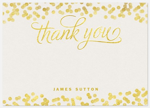 Gold Drops Thank You Cards