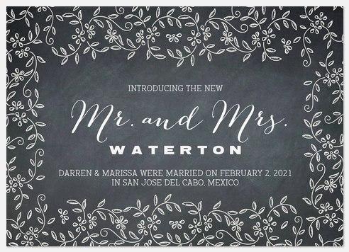 Very Vines Wedding Announcements