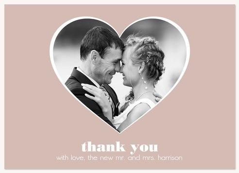 Wedding Thank You Cards, Open Hearts Design
