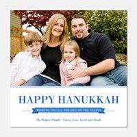 Pinstripe Hanukkah - Hanukkah photo cards