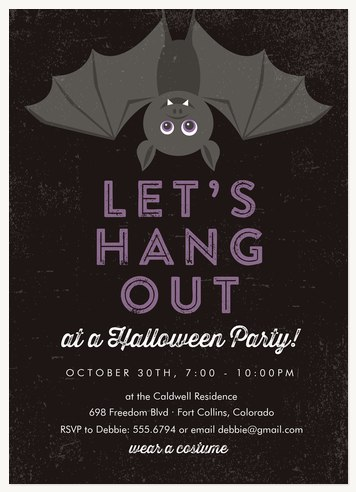 Halloween party invitations lets hang out stopboris Image collections