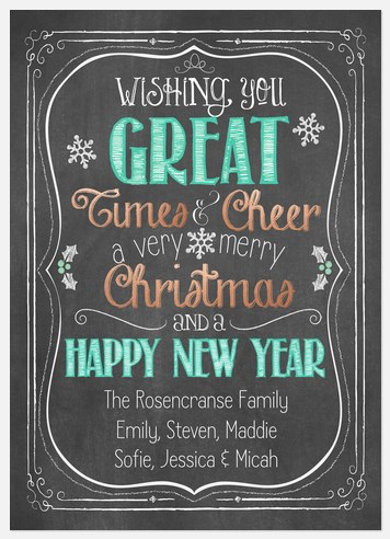 Great Cheer Holiday Photo Cards