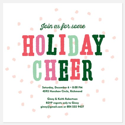 Snowball Party Holiday Party Invitations