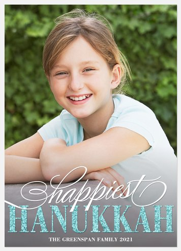 Sparkle Hanukkah Hanukkah Photo Cards