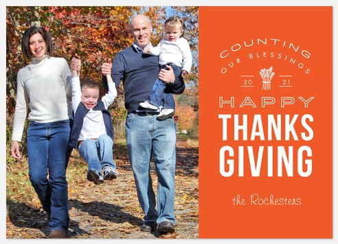 Counting Blessings Thanksgiving Cards