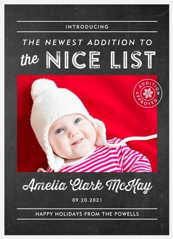 Nice List Holiday Photo Cards