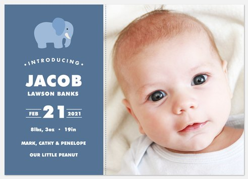 Little Peanut Baby Birth Announcements