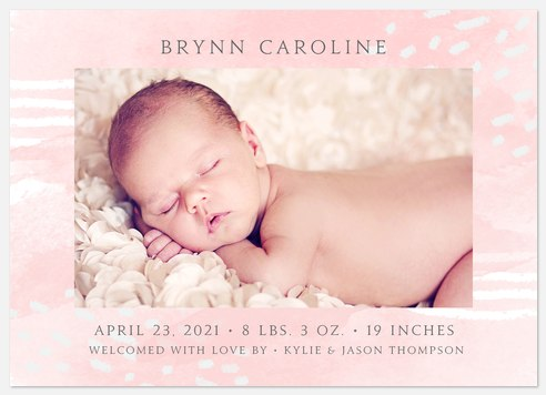 Sweet Watercolor  Baby Birth Announcements