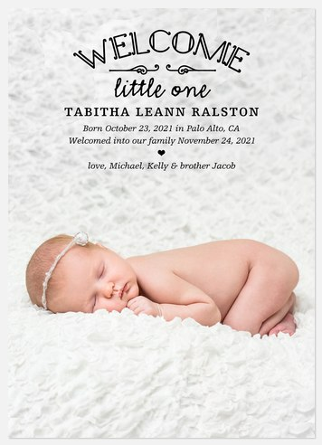 Let's Say Hello  Baby Birth Announcements