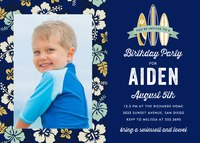 Birthday Party Invitations - Surfer Style