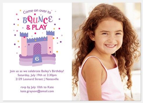 Bouncy Castle Kids' Birthday Invitations