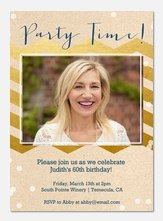 Golden Time - Adult Birthday Invitations