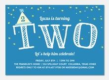 Wonderful Dreamer -  Birthday Invitations for Boys